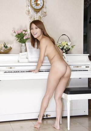 There is a piano but little Japanese college chick will play it after showing naked body