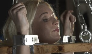 Master dominates over innocent blonde and moreover even allows to taste his prick